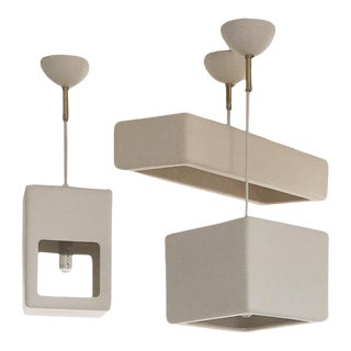 Late 20th Century Modern Cappellini Progetto Oggetto Line Ceiling Lamps - Set of 3