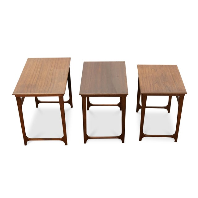"""Danish Modern Nesting Tables - """"Taastrup"""" For Sale - Image 4 of 7"""