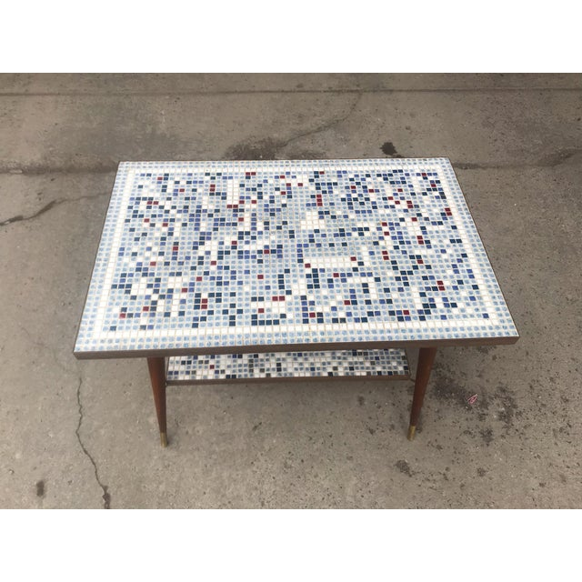 Mid-Century Modern Vintage Mid-Century Modern Mosaic Tile Occasional Table For Sale - Image 3 of 9