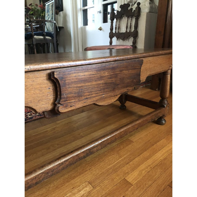 Coffee Antique French Henry II Style Walnut Low Boy Coffee Table For Sale - Image 8 of 13