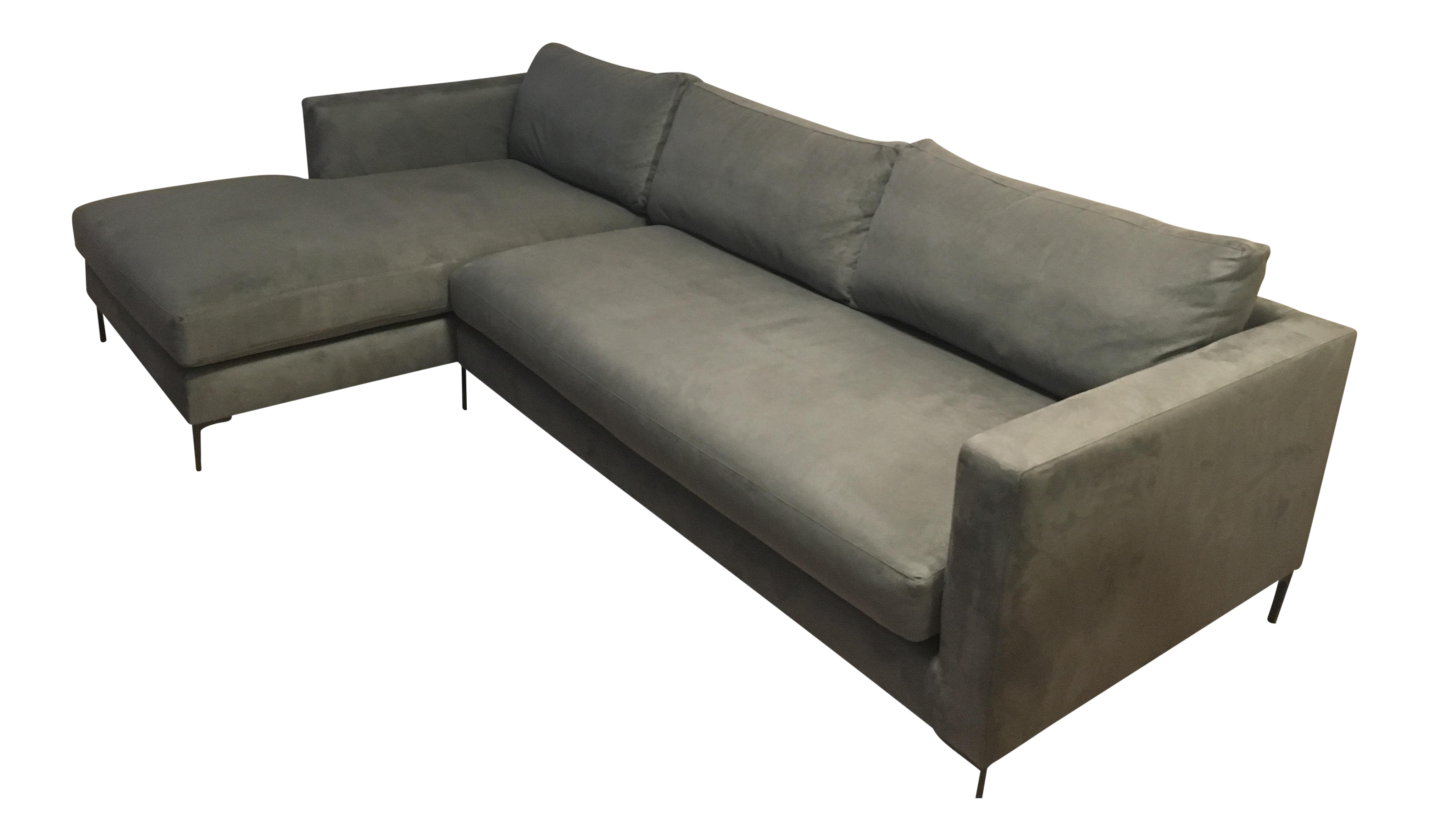 Pottery Barn Jake Upholstered Right Arm Sofa W/ Chaise Sectional For Sale