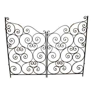 Mid-20th Century French Iron Gates - A Pair For Sale
