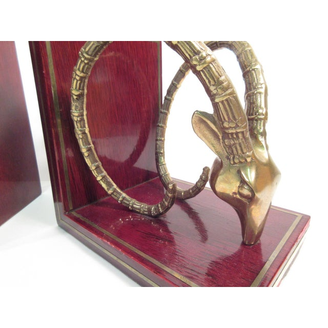 Vintage Ibex Brass Bookends - A Pair - Image 4 of 8