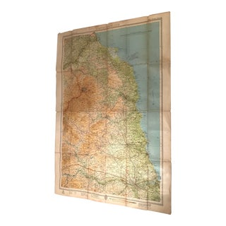 Vintage Great Brittain North Umberland Map For Sale