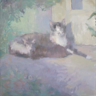 Cat Oil Painting by Michelle Farro For Sale