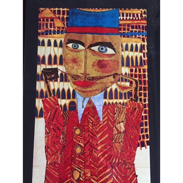 """Paper Vintage 1973 Framed """"Hundertwasser"""" Exibition Poster For Sale - Image 7 of 11"""