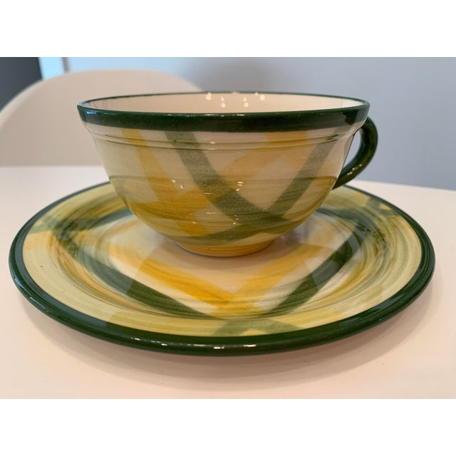 Vintage Mid-Century Vernonware Gingham Dinnerware - 40 Piece Set For Sale - Image 9 of 13