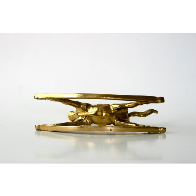 Metal 1960s Mid-Century Modern Brass Rocking Horse Figurine For Sale - Image 7 of 10