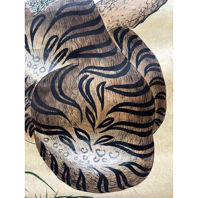 Korean Jakhodo Minhwa Folk Scroll Painting For Sale In Atlanta - Image 6 of 11
