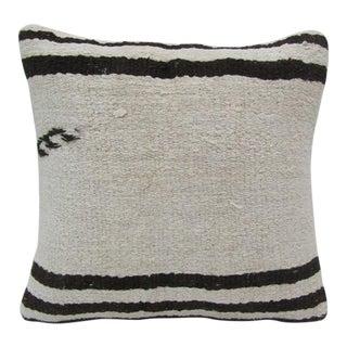 Black / White Hemp Kilim Pillow For Sale