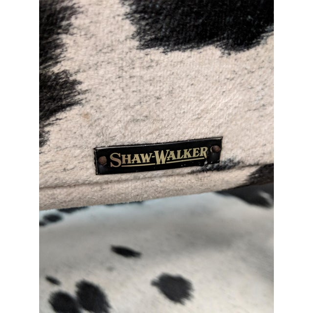Mid Century Modern Shaw Walker Faux Cowhide & Aluminum Chair For Sale - Image 10 of 11