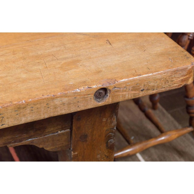 Country 1840's English Farm House Table For Sale - Image 3 of 9