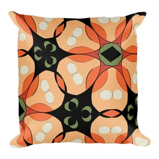 Tropical Floral Throw Pillow For Sale