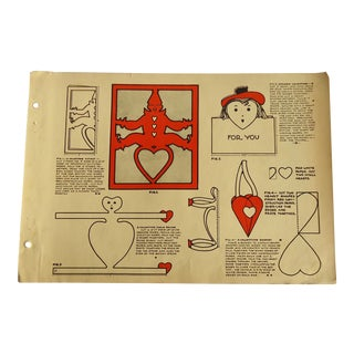 1930 Art Deco Valentines Crafts Character Culture Citizenship Guides Print For Sale