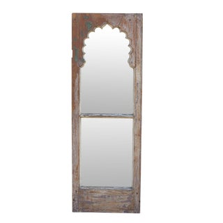 Antique Teak Mihrab Window Mirror