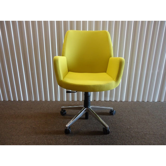Brian Kane by Coalesse & Steelcase Modern Bindu Yellow Executive Conference Chair For Sale - Image 13 of 13