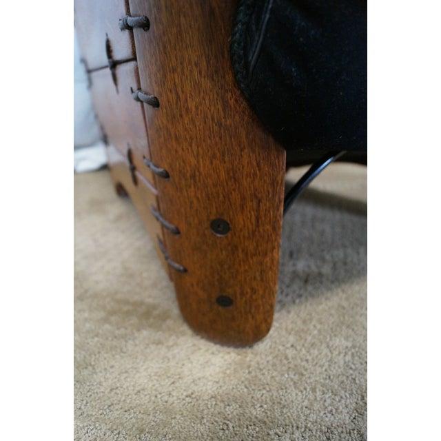 Brazilian Walnut Wing Lounge Chair - Image 6 of 10