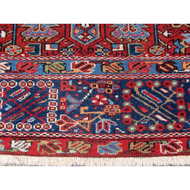 1920s, Handmade Antique Persian Heriz Rug 4.9' X 6.1' For Sale - Image 9 of 11