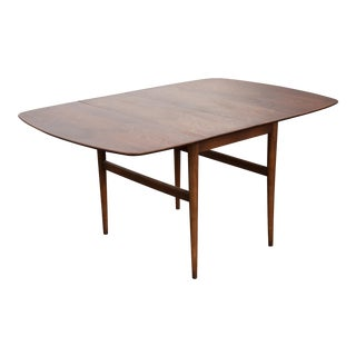 1970s Mid-Century Modern American of Martinsville Drop Leaf Walnut Dining Table