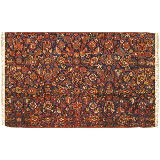 1920s Antique Persian Rug - 4′10″ × 3′ For Sale In New York - Image 6 of 6