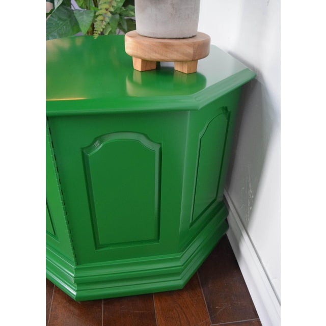 Bottle Green Fine Paints of Europe High Gloss Green Side Table For Sale - Image 4 of 8
