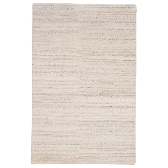 Jaipur Living Hermitage Hand-Knotted Trellis Ivory/ Silver Area Rug - 8′6″ × 11′6″ For Sale