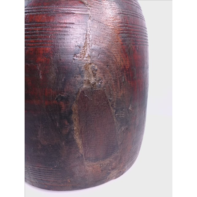 Primitive Hand-Carved Water Urn - Image 3 of 11