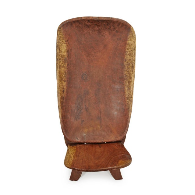 African Senufo Stargazer Wood Folding Chair For Sale - Image 3 of 7