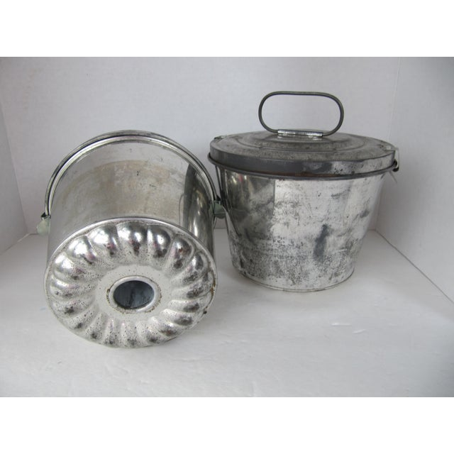 Industrial Vintage German Pudding Pans- a Pair For Sale - Image 3 of 7