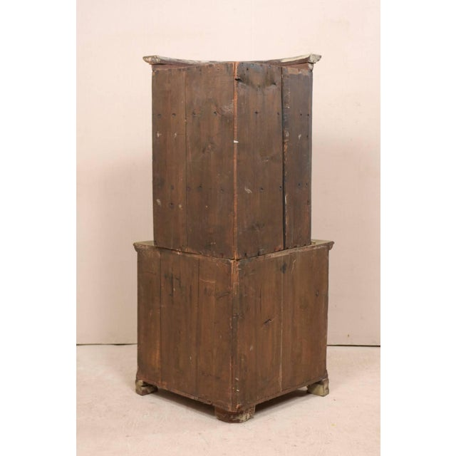 Gustavian (Swedish) 18th Century Antique Gustavian Swedish Painted Wood Corner Cabinet For Sale - Image 3 of 12