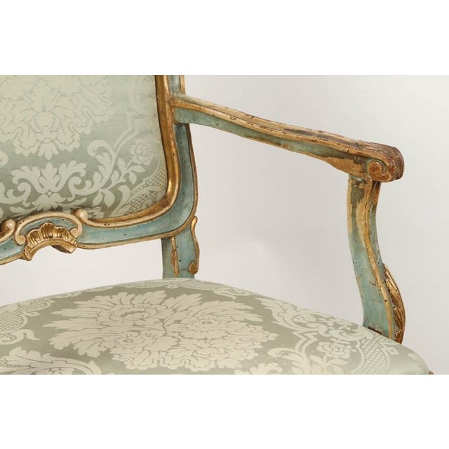 Fabric Fine Venetian Rococo Arm Chair For Sale - Image 7 of 9