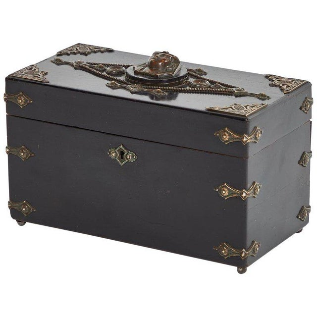 Early 19th Century French Ebonzied and Decorated Box For Sale - Image 5 of 9