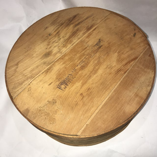 Vintage Round Wood Large Cheese Box For Sale In New York - Image 6 of 11