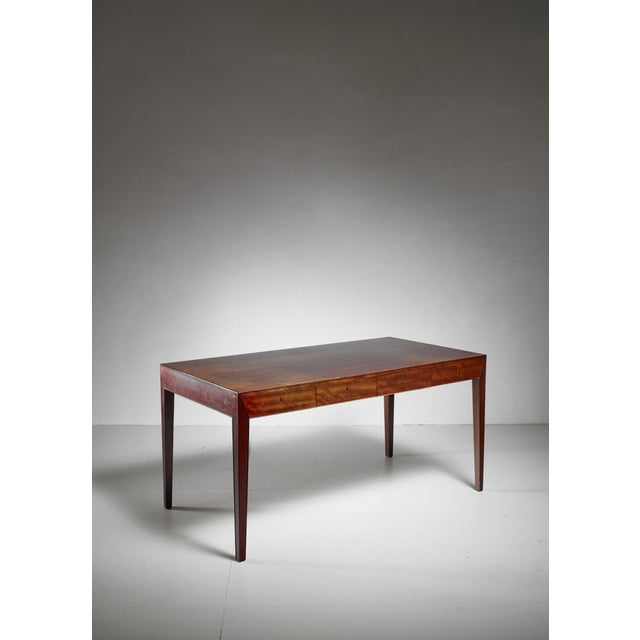 Severin Hansen Desk with Matching Chair for Haslev, Denmark, 1960s For Sale - Image 6 of 6