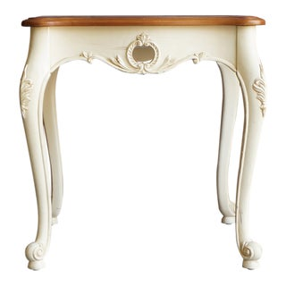 1990s French Ethan Allen Legacy Carved End Table