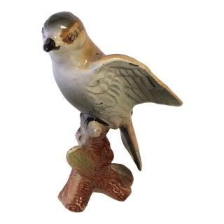 Vintage Majolica Porcelain Bird Figure - Made in Japan For Sale