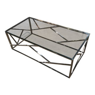 Modern Chrome Coffee Table