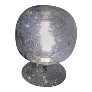 Barbini Murano Glass Orb Lamp For Sale