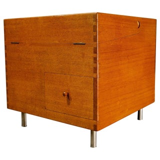 Midcentury Hans Wegner Cube Bar For Sale