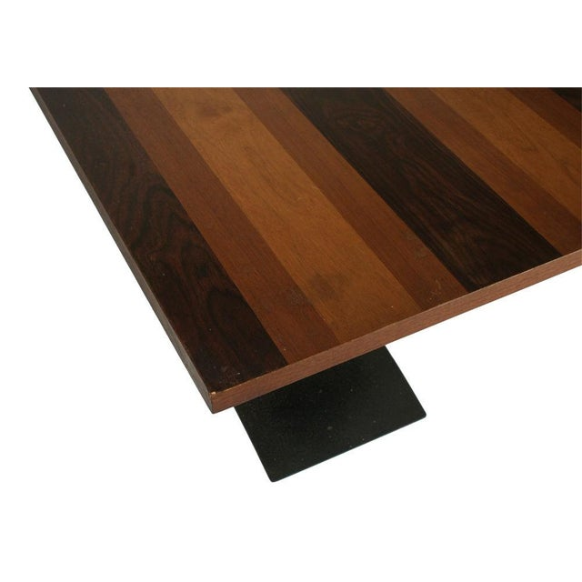 Metal Milo Baughman Rosewood & Black Iron Occasional Table For Sale - Image 7 of 7