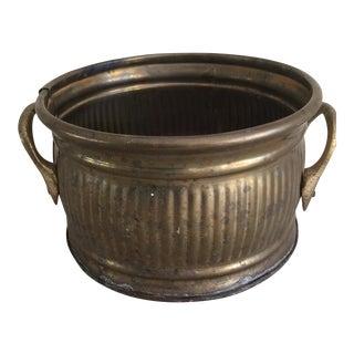 Vintage Boho Chic Brass Planter