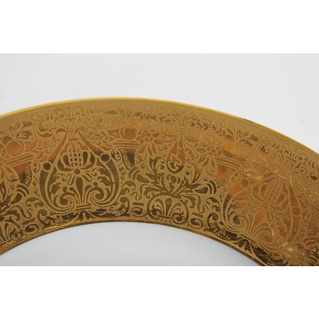 Bavarian Hutchenreuther Gilt Encrusted Plates - Set of 12 For Sale In Greensboro - Image 6 of 9