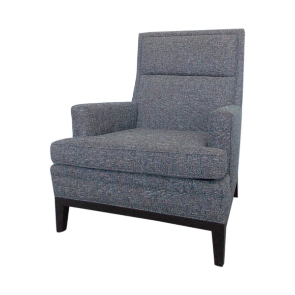 Mid-Century High Back Club Chair - Image 1 of 7