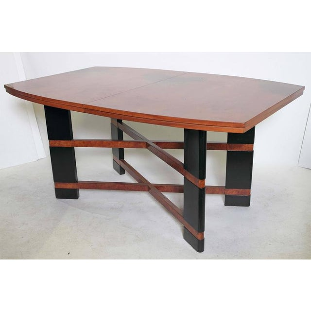 Art Deco Art Deco Hastings Dining Table / Chairs Double X-Base Teague / Deskey For Sale - Image 3 of 11