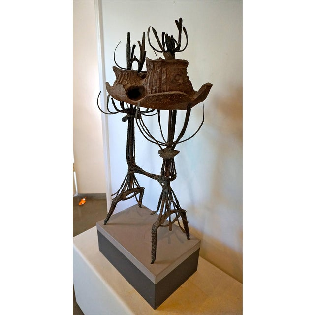 Clay and Metal Sculpture by Leon Roloff For Sale - Image 10 of 10
