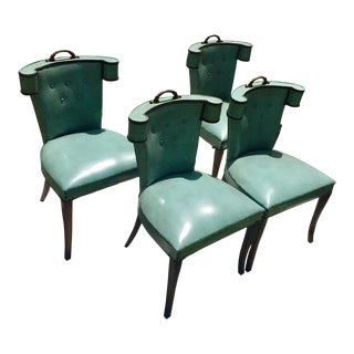 Vintage Klismos Mid century Modern Chairs - Set of 4