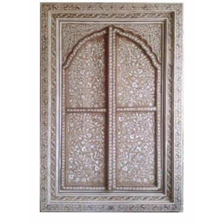 Bone Inlay Arched Window Panel For Sale
