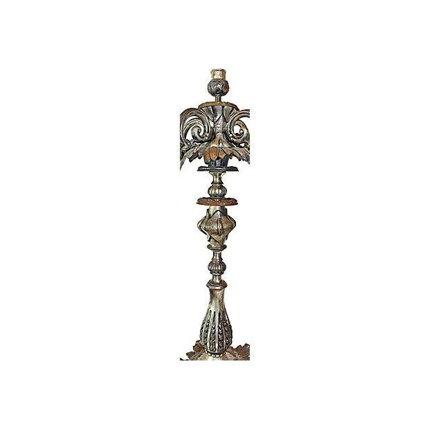 Antique French Bronze Candelabra - A Pair For Sale - Image 5 of 6