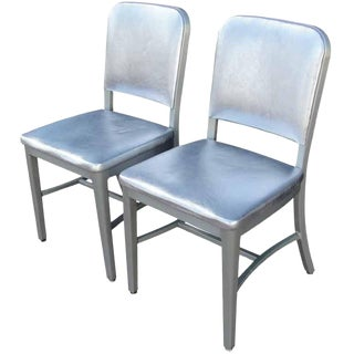 Pair of Vintage Steel Case Side Chairs For Sale