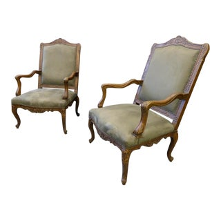 Late 19th Century Vintage French Bergeres- A Pair For Sale